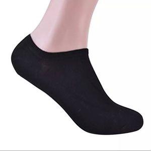 3 pairs | Men Black Cotton Ankle Boat Socks